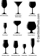 glas, set, alcoholhoudend