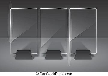 glas, vector, eps10, illustration., billboard.