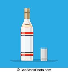 glas., wodka, grit, fles
