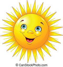 glimlachende zon