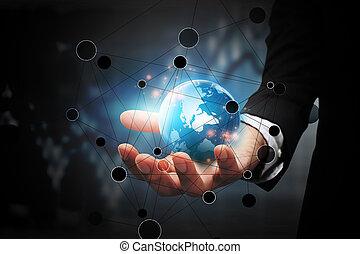 globaal, connection., zakelijk