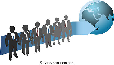 globaal, toekomst, werken, zakenlui