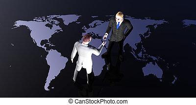 globaal, vergadering