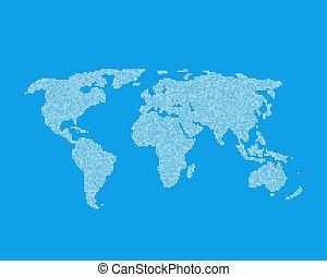 globaal, wereld, element, zoals, infographic, witte , kaart