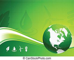 globe, achtergrond, nautre, groene