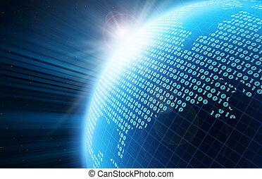 globe, digitale