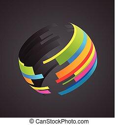 globe, gekleurde, pictogram
