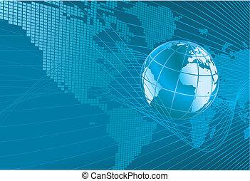 globe, kaartachtergrond, wereld