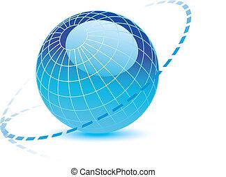 globe, lijnen, dotted