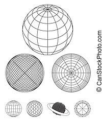 globe, schets