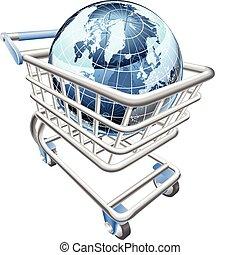 globe, shoppen , concept, kar
