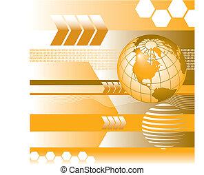 globe, vector, binair, digitale