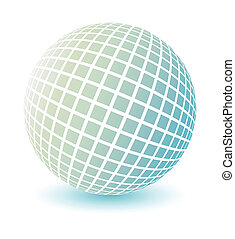 globe, vector., zacht, gekleurde