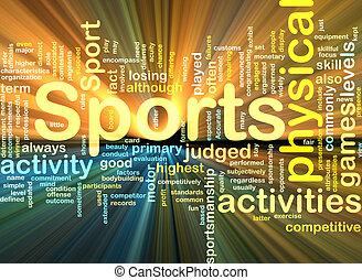 gloeiend, achtergrond, sporten activiteiten, concept