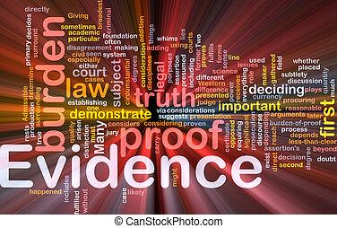 gloeiend, concept, getuigenis, achtergrond, bewijs
