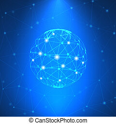 gloeiend, netwerk, meldingsbord