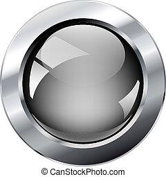 glosy, web, abstract, metaal, grijze , illustratie, vrijstaand, ring., vector, achtergrond., witte , glanzend, knoop