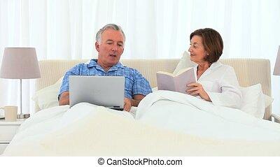 goed, paar, hebben, bejaarden, tijd