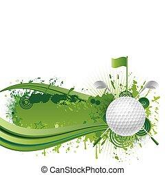 golf, communie, ontwerp