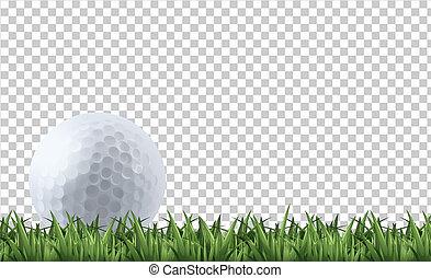 golf, gras, bal