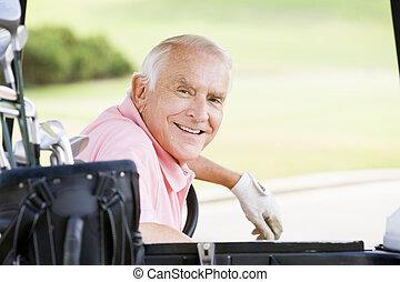 golfspeler, verticaal, mannelijke