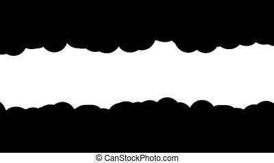 golvend, frame, masker, horizontaal, rand