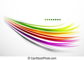 golvend, lijnen, kleurrijke