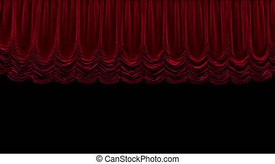 gordijn, rood, theater, vaart, alfa