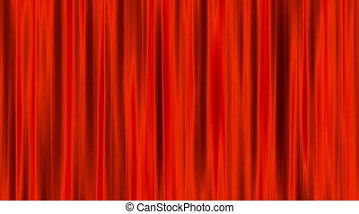 gordijnen, render, animatie, lus, rood, 3d