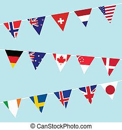 gors, landen, ontwikkelde, meest, wereldvlaggen