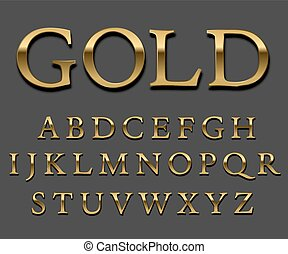 goud, lettertype