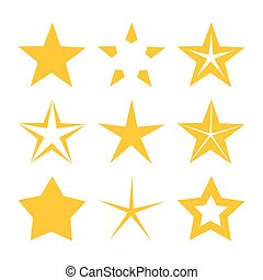 goud, sterretjes, iconen