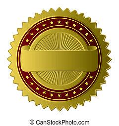 gouden, etiket, (vector)