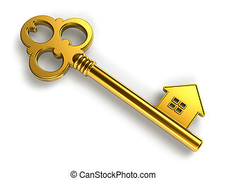 gouden, klee, house-shape