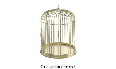 gouden, kooivogel