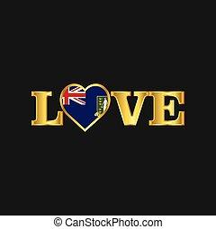 gouden, liefde, typografie, maagd, vlag, vector, ontwerp, uk, eilanden