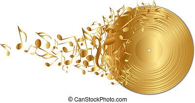gouden, opmerkingen, vinylverslag