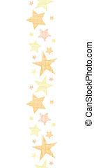 gouden, sterretjes, verticaal, model, seamless, textiel, achtergrond, textured