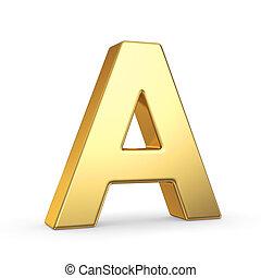 gouden, witte , brief