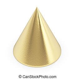 gouden, witte , puntzak, 3d