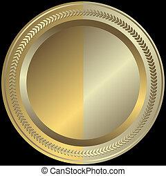 gouden, zilverachtig, (vector), schaaltje