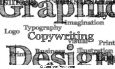 grafisch ontwerp, woorden, achtergrond