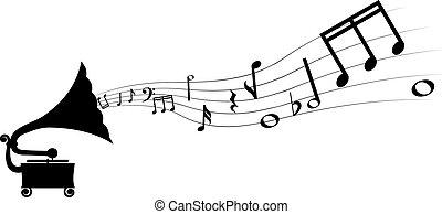 grammofoon, melodie