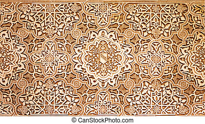 granada, paleis, model, alhambra, textuur, arabische , spanje