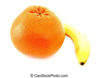 grapefruit, banaan