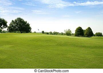 gras, golf, velden, groene, beautigul, sportende