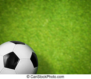 gras veld, bal, groene achtergrond, voetbal