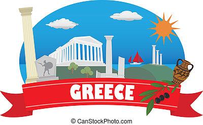 greece., toerisme, reizen