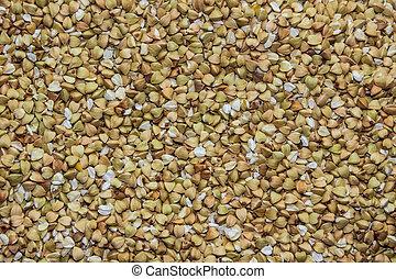 (green, velen, 2, buckwheat), zaden