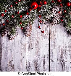 grens, ontwerp, kerstmis